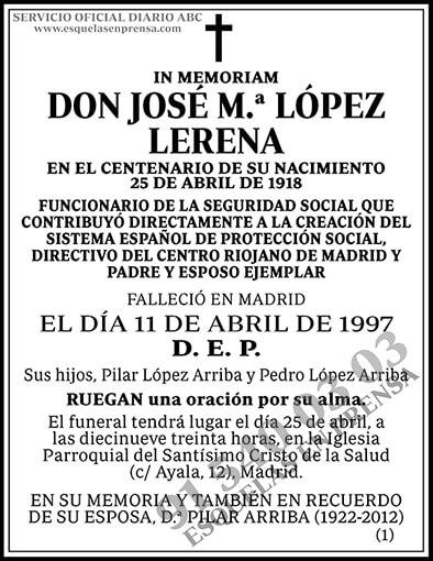 José M.ª López Lerena